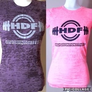 Bundle of 2 HDF High definition fitness tees